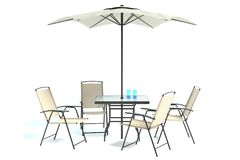 Outdoor Patio Table Set Royalty Free Stock Photography
