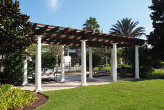 Outdoor pavilion Stock Images