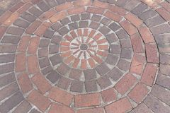 Outdoor Paving in a park royalty free stock photography