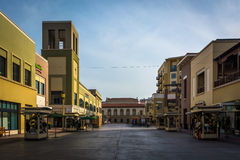 Outdoor pedestrian mall in Pasadena  Royalty Free Stock Photography