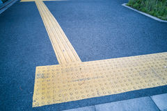 Outdoor pedestrian tactile facility for visually impaired people Royalty Free Stock Photography