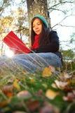 Outdoor person reading Stock Photos