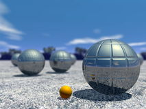 Outdoor petanque game - 3D render Stock Image