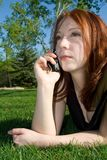 Outdoor Phone Call Royalty Free Stock Image