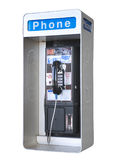 Outdoor phone, isolated. Outdoor public phone,isolated with clipping path Stock Photo