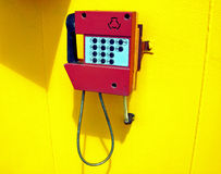 Outdoor phone on a ship Royalty Free Stock Image