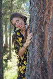 A woman in the forest Stock Photo