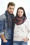 Outdoor photo of young couple Stock Photography