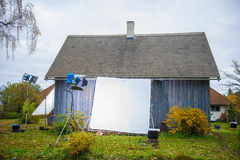 Outdoor photographic studio Royalty Free Stock Photos
