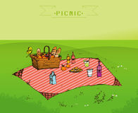 Outdoor picnic in park Royalty Free Stock Photography