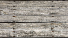 Outdoor pine wood. Old vintage outdoor pine wood with groove surface and rusted screw texture background Royalty Free Stock Photos