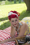Outdoor pinup Stock Image