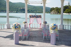 Outdoor place for wedding ceremony Stock Photo