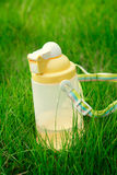 Outdoor plastic children kettle,or water bottle Stock Images