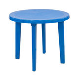Outdoor plastic table isolated Stock Images