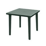 Outdoor plastic table isolated Stock Image
