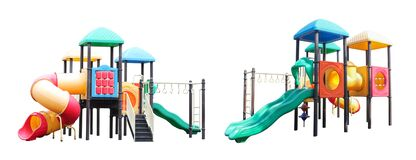 Free Outdoor Play Area, Playground Isolated On White Background. Royalty Free Stock Photo - 192271735
