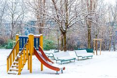 Outdoor playground Stock Photo
