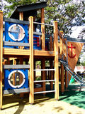 Outdoor playground. A playground is an outdoor area set aside for recreation and play Royalty Free Stock Photo