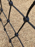 Outdoor playground equipment background Royalty Free Stock Photos