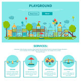 Outdoor Playground Illustration Royalty Free Stock Photography