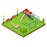 Outdoor Playground Isometric View. Vector Royalty Free Stock Image