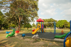 Outdoor playground in the Park Stock Photos