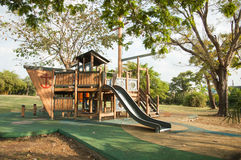 Outdoor playground in the Park Royalty Free Stock Photos