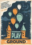 Outdoor playground poster template Stock Image