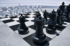 Outdoor playing Chess Royalty Free Stock Photography