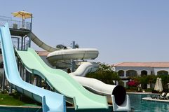 Kids On Water Slide Stock Photo Image Of Youths Thrills