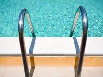 Outdoor pool handle Stock Image