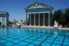 Outdoor Pool at Hearst Castle Royalty Free Stock Photos