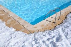Outdoor Pool In Winter Stock Photos