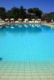 Outdoor pool in Italy royalty free stock images