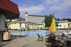 Outdoor pool in the Sanatorium Belokuriha Royalty Free Stock Image