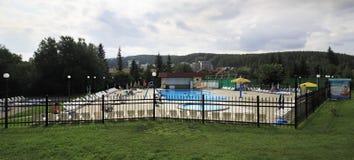 Outdoor pool in the Sanatorium Belokuriha Royalty Free Stock Images
