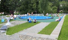 Outdoor pool in the Sanatorium Centrosouz Royalty Free Stock Images