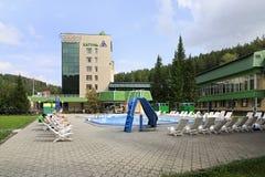 Outdoor pool in the Sanatorium Katun Stock Photos
