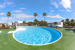 Outdoor pool in Spain Stock Photo