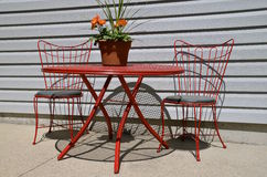 Outdoor porch table and chairs Royalty Free Stock Images