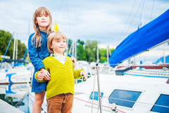 Outdoor portrait of adorable children Royalty Free Stock Image