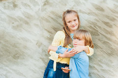 Outdoor portrait of adorable kids Stock Photo