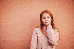 Outdoor portrait of cute preteen girl Stock Image