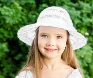 Outdoor portrait of adorable smiling little girl Royalty Free Stock Images