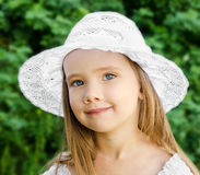 Outdoor portrait of adorable smiling little girl Royalty Free Stock Image