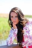 Outdoor portrait of attractive caucasian teen girl Stock Image