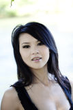 Outdoor Portrait Attractive Young Asian American Woman Royalty Free Stock Photography