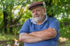 Outdoor portrait of bearded senior man Royalty Free Stock Photography