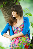 Outdoor portrait of a beautiful girl Royalty Free Stock Images